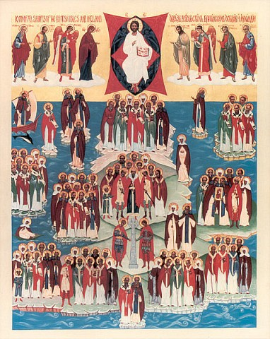 Icon of All Saints who shone forth in the Orthodox British Isles and Ireland